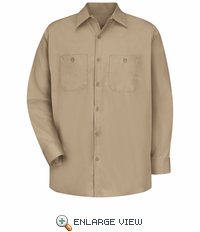 SC10KH Long Sleeve Khaki 100% Cotton Shirt
