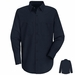 SC10NV Long Sleeve Navy 100% Cotton Shirt