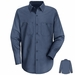 SC10PB Long Sleeve Postman Blue 100% Cotton Shirt