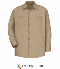 SC30KH Long Sleeve Khaki Wrinkle Resistant Cotton Shirt