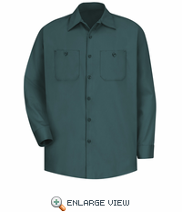 SC30SG Long Sleeve Spruce Green Wrinkle Resistant Cotton Shirt