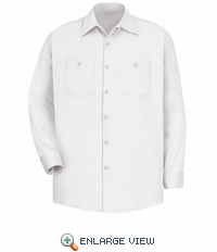 SC30WH Long Sleeve White Wrinkle Resistant Cotton Shirt