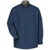 SC74 Long Sleeve Cotton Twill Casual Contrast Shirt (2 Colors)