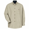 SC74ST Long Sleeve Hunter Stone/Navy Cotton Twill Casual Contrast Shirt