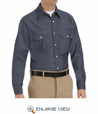 SD78 Denim Western Utility Work Shirt
