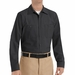 SP14BK Men's Black Long Sleeve Industrial Work Shirt