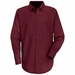 SP14BY Men's Burgandy Long Sleeve Industrial Work Shirt