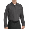 SP14CH Men's Charcoal Long Sleeve Industrial Work Shirt