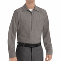 SP14GY Men's Grey Long Sleeve Industrial Work Shirt