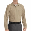 SP14KK Men's Khaki Long Sleeve Industrial Work Shirt
