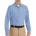 SP14LB Men's Light Blue Long Sleeve Industrial Work Shirt