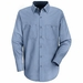 SP14MB Men's Petrol Blue Long Sleeve Industrial Work Shirt