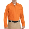 SP14OR Men's Orange Long Sleeve Industrial Work Shirt