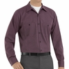 SP14RC Charcoal/Red Twin  Durastripe ™ Long Sleeve Work Shirt