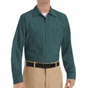 SP14SG Men's Spruce Green Long Sleeve Industrial Work Shirt