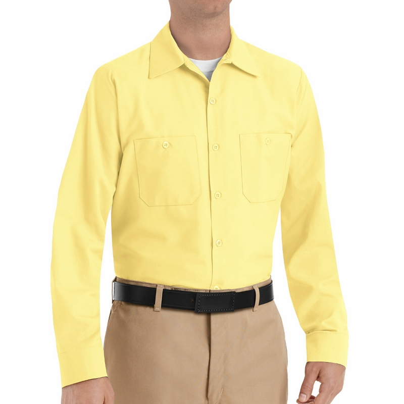 Mens Yellow Long Sleeve Shirt | Is Shirt