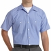 SP20BW Short Sleeve GM Blue/White Stripe Industrial Work Shirt
