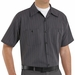 SP20GI Short Sleeve Charcoal w/Blue/White Stripe Industrial  Work Shirt