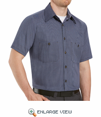 SP20M Short Sleeve Micro-Check Work Shirt (3 Colors)