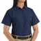SP23NV Women's Solid Navy Short Sleeve Industrial Work Shirt