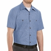 SP24G Short Sleeve Geometric Micro-check Work Shirt (3 Colors)