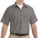 SP24GY Men's Grey Short Sleeve Industrial Work Shirt