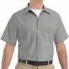 SP24LA Men's Light Grey Short Sleeve Industrial Work Shirt