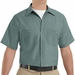 SP24LG Men's Light Green Short Sleeve Industrial Work Shirt