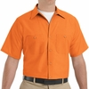 SP24OR Men's Orange Short Sleeve Industrial Work Shirt