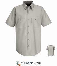 SP24 Men's SS Solid Big & Tall Industrial Work Shirt