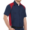 SP28RN Short Sleeve Red/Navy Motorsports Image Shirts