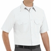 SP60WH Short Sleeve White Poplin Solid Dress Uniforms Shirt