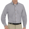 SP90SV Men's Silver Long Sleeve Button Down Poplin Shirts