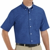 SR60FB Short Sleeve French Blue Men's Executive Button-Down Shirt