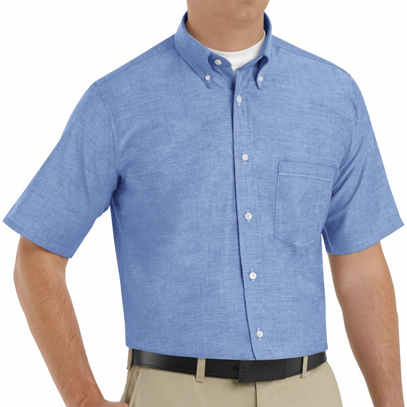 SR60LB Short Sleeve Light Blue Men's Executive Button-Down Shirt
