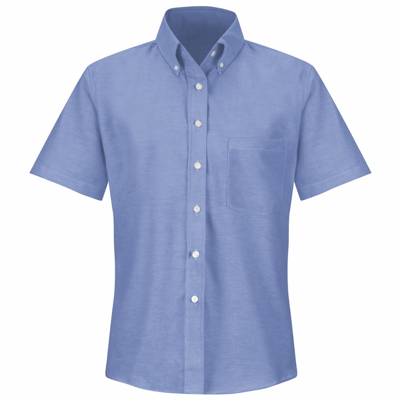SR61LB Short Sleeve Women's Light Blue Executive Button-Down Shirt