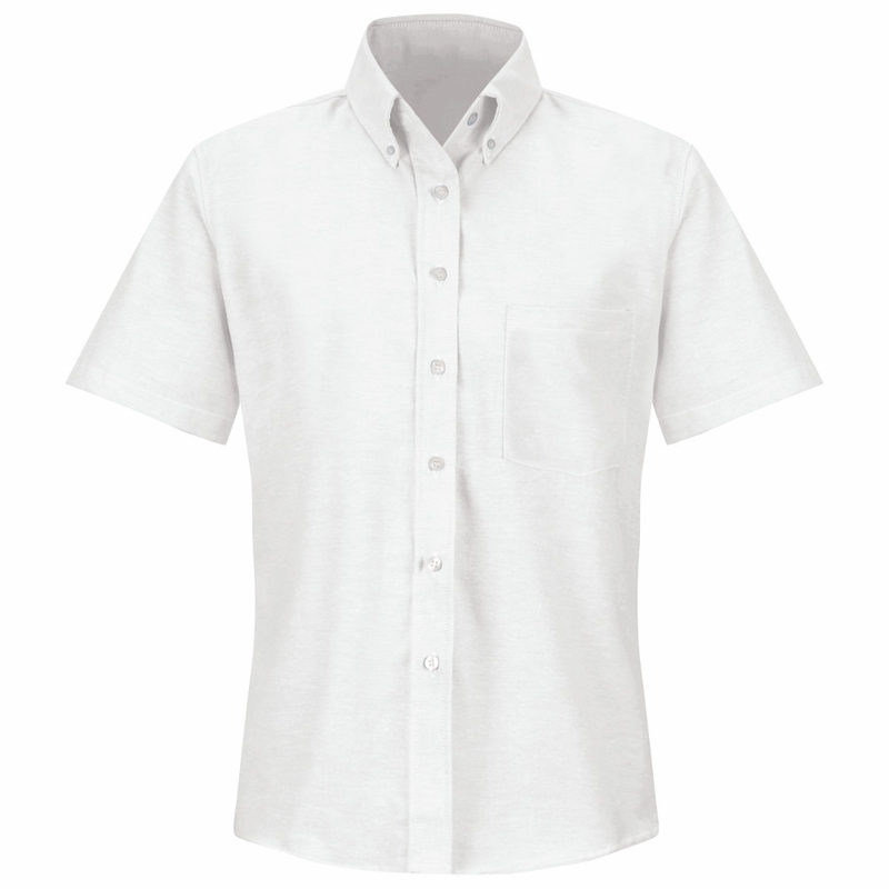 SR61WH Short Sleeve Women's White Executive Button-Down Shirt