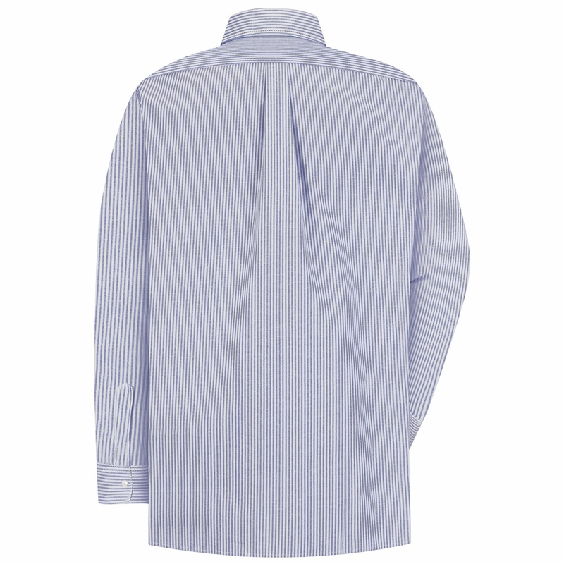 Long Sleeve Men's Blue/White Stripe Executive Button-Down Shirt