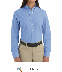SR71LB Long Sleeve Women's Light Blue Executive Oxford Button-Down Shirt
