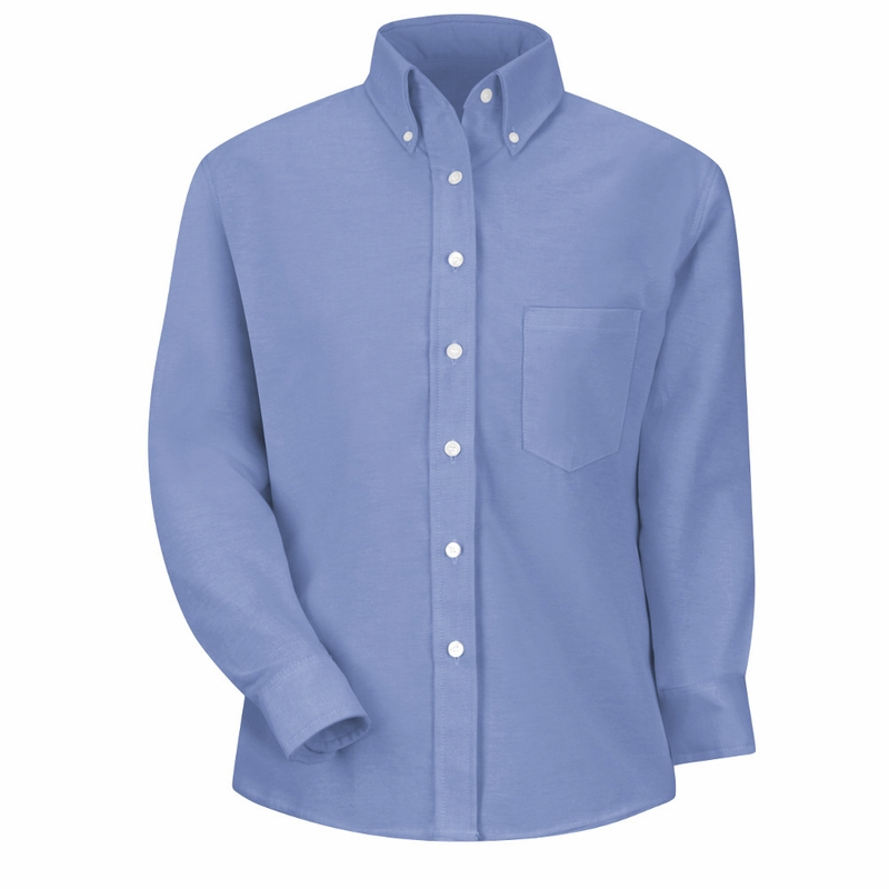 SR71LB Long Sleeve Women's Light Blue Executive Button-Down Shirt