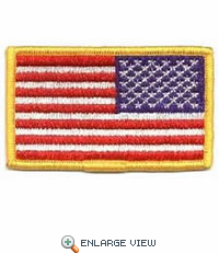 "United State Embroidered Flag (Reverse) - 3-3/8"" x 2"""