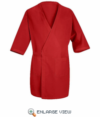 WP10RD Red Collarless Butcher Wrap