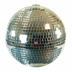 "08"" Disco Mirror Ball (SILVER)"