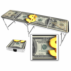 100 Dollar Bill Beer Pong Table