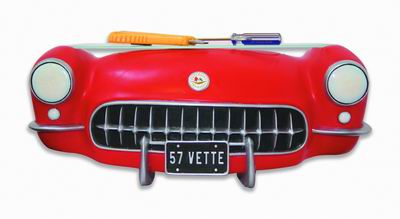 1957 Corvette Front 3-D Wall Shelf - Click to enlarge