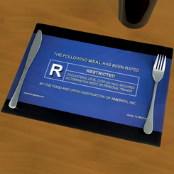 3D Movie Rating Placemat