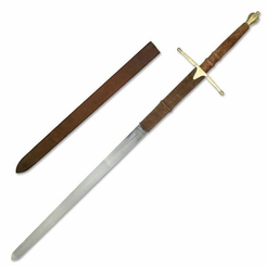 52 inch William Wallace Brass Sword with Sheath from braveheart