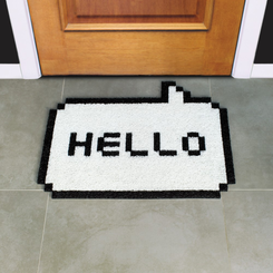 8-Bit Pixel Hello Welcome Mat