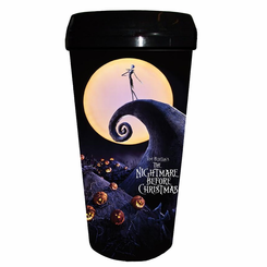 Nightmare Before Xmas 16oz Plastic Travel Mug