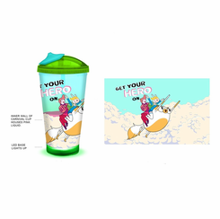 Adventure Time-LED Light Up 18oz Carnival Cup